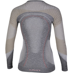 UYN Ambityon Melange UW T-shirt à manches longues Femme, grey melange/nude/salmon